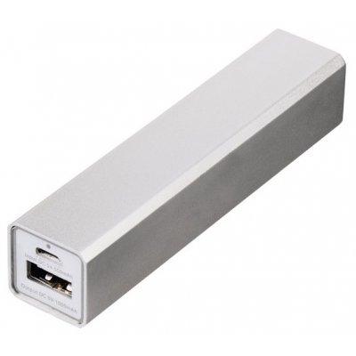 Внешний аккумулятор для портативных устройств Hama Candy Bar 2600mAh серебристый (124404)Внешние аккумуляторы для портативных устройств Hama<br>Мобильный аккумулятор Hama Candy Bar Li-Ion 2600mAh 1A серебристый 1xUSB<br>