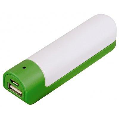 Внешний аккумулятор для портативных устройств Hama Fusion 2600mAh зеленый/белый (136154)Внешние аккумуляторы для портативных устройств Hama<br>Мобильный аккумулятор Hama Fusion Li-Ion 2600mAh 1A зеленый/белый 1xUSB<br>