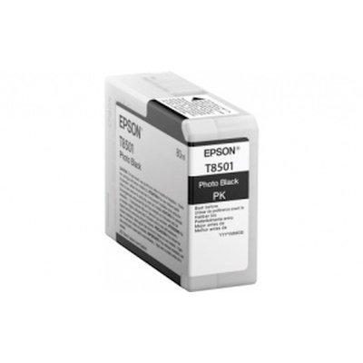 Картридж для струйных аппаратов Epson T8501 черный фото для SC-P800 (C13T850100)Картриджи для струйных аппаратов Epson<br>Объем: 80 мл, цвет: черный, совместим с: SureColor SC-P800<br>