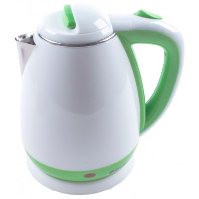 Электрический чайник Endever Skyline KR-241S белый/зеленый (80175)Электрические чайники Endever<br>чайник<br>объем 1.8 л<br>мощность 2100 Вт<br>закрытая спираль<br>установка на подставку в любом положении<br>стальной корпус<br>ненагревающийся корпус<br>индикация включения<br>