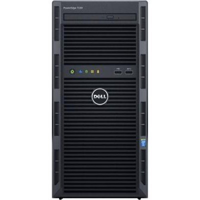 Сервер Dell PowerEdge T130 (210-AFFS/012) (210-AFFS/012)Серверы Dell<br>PowerEdge T130 i3-6100 (3.7 GHz, 2C), 8GB (1x8GB) UDIMM, No HDD (up to 4x3.5 Cabled), Embedded SATA, DVD+/-RW, Broadcom 5720 DP 1GB LOM, iDRAC8 Express, PSU 290W, 3Y Basic NBD<br>