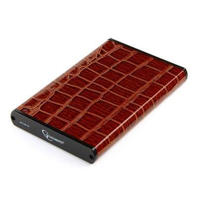 Корпус для жесткого диска Gembird EE2-U3S-70L-BR коричневый (EE2-U3S-70L-BR)Корпуса для жестких дисков Gembird<br>Внешний корпус 2.5 Gembird EE2-U3S-70L-BR, коричневый, USB 3.0, SATA, металл+кожзам, блистер<br>