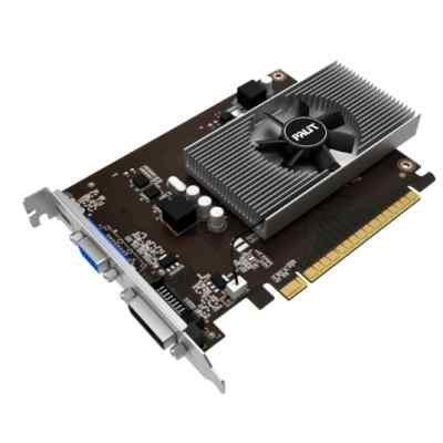 Видеокарта ПК Palit GT 730 4GB GDDR5 PA-GT730-4GD5 (NE5T730013G6-2082F)Видеокарты ПК Palit<br>VGA PALIT NVIDIA GeForce GT 730, 4Gb GDDR3/64-bit, PCI-E 2.0 x 8,  DVI, mHDMI, VGA, 1-slot cooler, Retail, PA-GT730-4GD5<br>