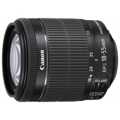 Объектив для фотоаппарата Canon EF-S IS STM (8114B005) 18-55мм f/3.5-5.6 черный (8114B005) объектив canon ef s 35 f2 8 is stm macro черный
