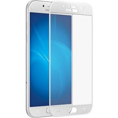 Пленка защитная для смартфонов Onext Samsung Galaxy A5 (2017) SM-A520F с рамкой белый (Защитное стекло) (Onext 41232) аксессуар защитное стекло samsung galaxy a5 2016 onext с рамкой black 41090