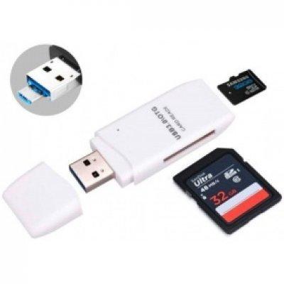 Картридер Orient CR-018W (30366)Картридеры Orient<br>Картридер ORIENT CR-018W, USB 3.0, SDXC/SD 3.0 UHS-1/SDHC/microSD/T-Flash, поддержка OTG, выдвижной<br>