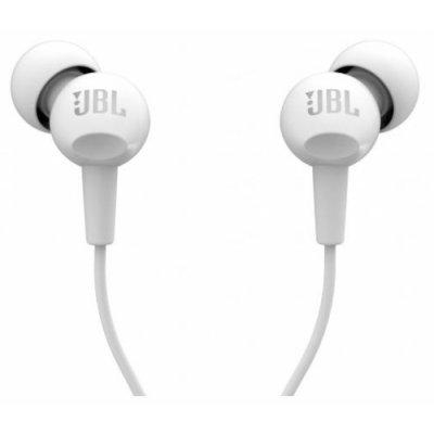 Наушники JBL C100SI белый (JBLC100SIUWHT)Наушники JBL<br>наушники с микрофоном<br>вставные (затычки)<br>чувствительность 103 дБ/мВт<br>импеданс 16 Ом<br>разъем mini jack 3.5 mm<br>