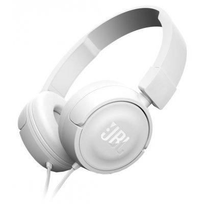 jbl t450 черный наушники с микрофоном проводные динамические стерео наушники Наушники JBL T450 белый (JBLT450WHT)