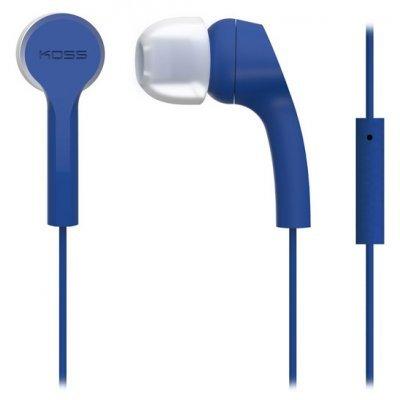 Наушники Koss KEB9i синий (15118050)Наушники Koss<br>наушники с микрофоном<br>вставные (затычки), закрытые<br>импеданс 16 Ом<br>разъем mini jack 3.5 mm<br>