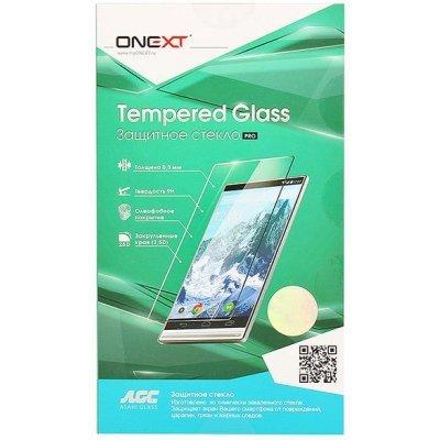 Пленка защитная для смартфонов Onext Apple iPhone 7 Plus с рамкой белый (Защитное стекло) (41217)