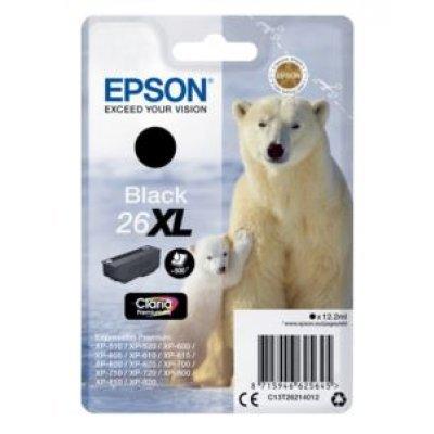 Картридж для струйных аппаратов Epson C13T26214012 черный для XP-600/605/700/710/800 (500стр.) (C13T26214012) принтер струйный epson l312