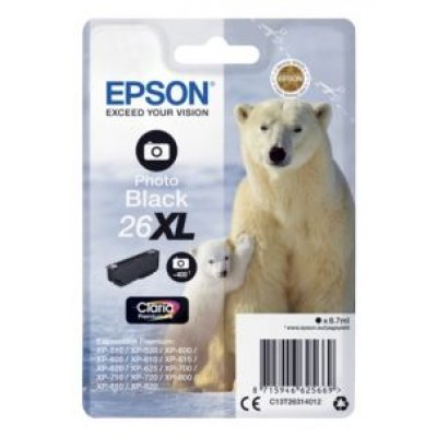 Картридж для струйных аппаратов Epson C13T26314012 черный для XP-600/605/700/710/800 (500стр.) (C13T26314012) принтер струйный epson l312