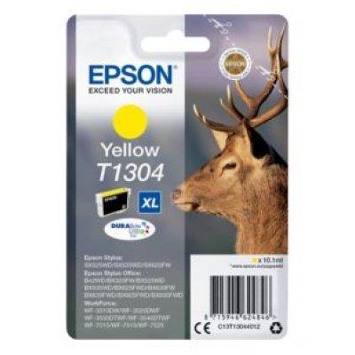 Картридж для струйных аппаратов Epson C13T13044012 желтый для SX525WD/SX535WD/B42WD/BX320FW/BX625FWD/BX635FWD/WF-7015/7515/7525 (C13T13044012) принтер струйный epson l312