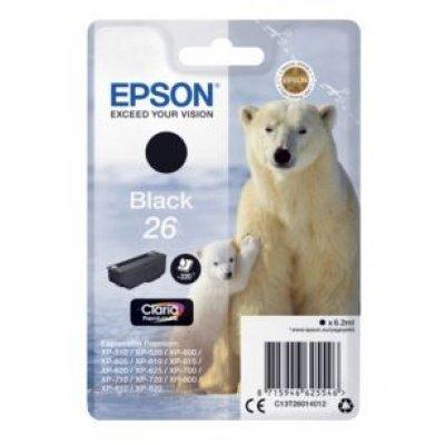 Картридж для струйных аппаратов Epson C13T26014012 черный для XP-600/605/700/710/800 (220стр.) (6.2мл) (C13T26014012) bosch ppr 250