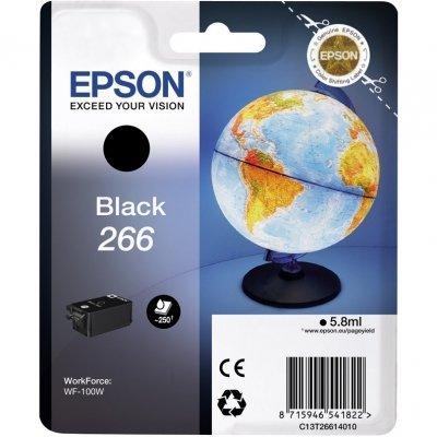 Картридж для струйных аппаратов Epson T266 черный для WF-100 C13T26614010 (C13T26614010) картридж epson t009402 для epson st photo 900 1270 1290 color 2 pack