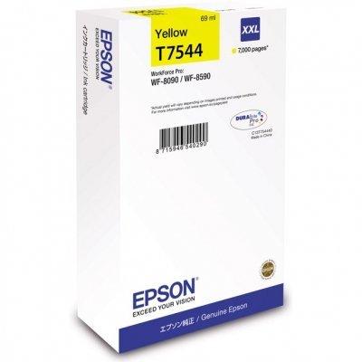 Картридж для струйных аппаратов Epson T7544 желтый экстраповышенной емкости для WF-8090/8590 (C13T754440) картридж для струйных аппаратов epson t8392 голубой повышенной емкости для wf r8590 c13t839240