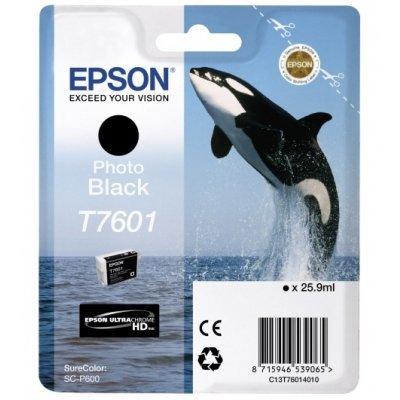 Картридж для струйных аппаратов Epson T7601 черный фото для SC-P600 (C13T76014010) принтер epson surecolor sc p600