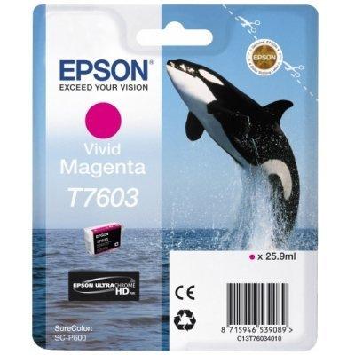 Картридж для струйных аппаратов Epson T7603 пурпурный для SC-P600 (C13T76034010) принтер epson surecolor sc p600