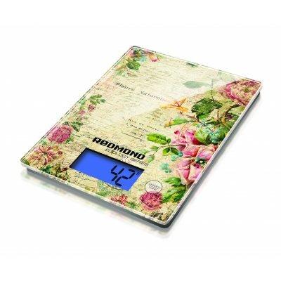 Весы кухонные Redmond RS-736 рисунок цветы (RS-736 (ЦВЕТЫ)) весы redmond rs 736 полоски