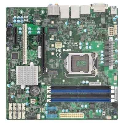 Материнская плата сервера SuperMicro MBD-X11SAE-M-O (MBD-X11SAE-M-O)Материнские плата серверов SuperMicro<br>сокет LGA1151, чипсет Intel C236, 4 слота DDR4 DIMM, 1600-2133 МГц, видеоадаптер Aspeed AST2400, разъемы SATA: 6 Гбит/с - 6<br>