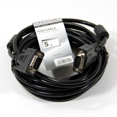Кабель VGA TV-COM QCG341AD-5M (QCG341AD-5M) кабель удлинитель для монитора vga 15m 15f 3 0м