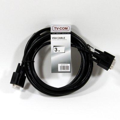 Кабель VGA TV-COM QCG341AD-3M (QCG341AD-3M) кабель vga tv com qcg341ad 3m qcg341ad 3m