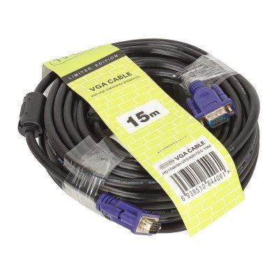 Кабель VGA TV-COM QCG120H-15M/QCG341AD-15M (QCG120H-15M/QCG341AD-15M) кабель удлинитель для монитора vga 15m 15f 3 0м