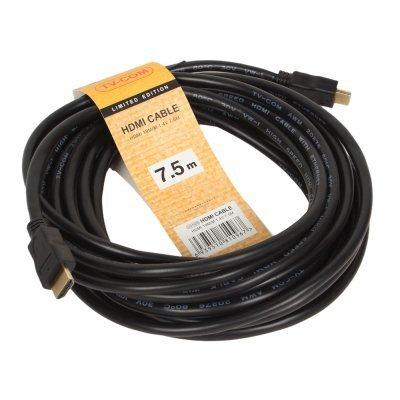 Кабель HDMI TV-COM CG150S-7.5M (CG150S-7.5M)Кабели HDMI TV-COM<br>Кабель цифровой HDMI19M to HDMI19M, V1.4+3D, 7.5m, TV-COM, &amp;lt;CG150S-7.5M&amp;gt;<br>