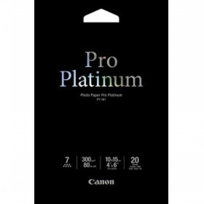 Фотобумага Canon Pro Platinum Глянцевая, 300г/м2, A6, 20 л. (2768B013)