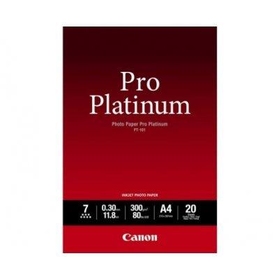 Фотобумага Canon Pro Platinum Глянцевая, 300г/м2, A4, 20 л. (2768B016)