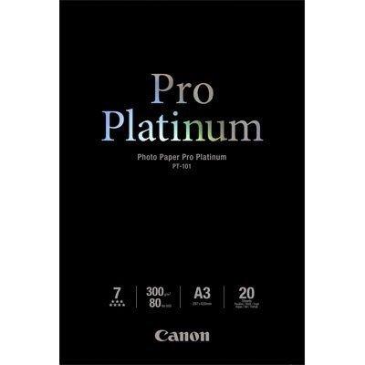 Фотобумага Canon Pro Platinum Глянцевая, 300г/м2, A3, 20 л. (2768B017)