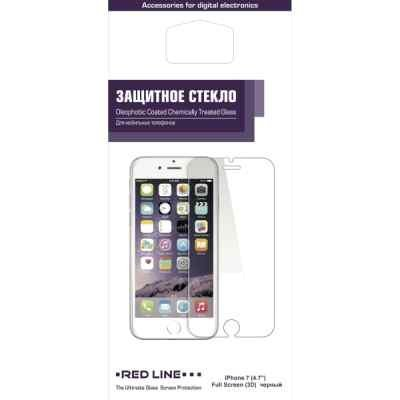 Пленка защитная для смартфонов Red line Apple iPhone 7 черный (Защитное стекло) (УТ000009792) пленка защитная red line для iphone 4 дерево