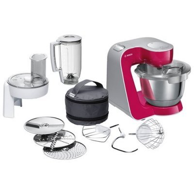 Кухонный комбайн Bosch MUM 58420 рубиновый/серебристый (MUM58420) bosch bosch mcm64085 комбайн