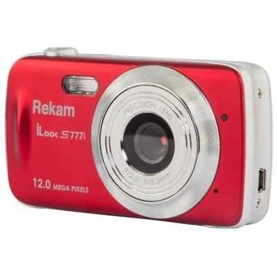 Цифровая фотокамера Rekam iLook S777i красный (1108005124) rekam ilook s955i black цифровая фотокамера
