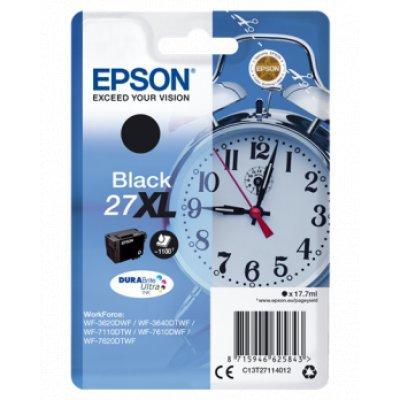 Картридж для струйных аппаратов Epson C13T27114022 черный для Epson WF7110/7610/7620 (1100стр.) (C13T27114022) принтер струйный epson l312
