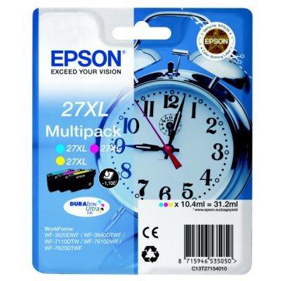Картридж для струйных аппаратов Epson C13T27154022 желтый/голубой/пурпурный набор карт. для Epson WF7110/7610/7620 (1100стр.) (C13T27154022) принтер струйный epson l312