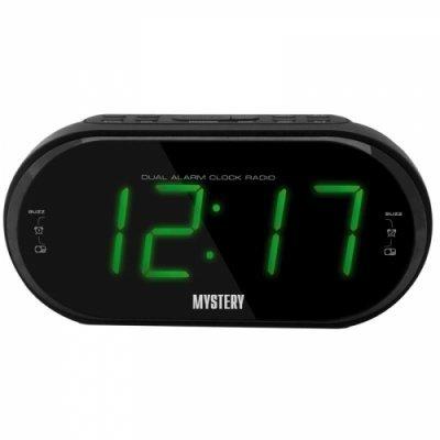 Радиобудильник Mystery MCR-69 черный с зеленой подсветкой (MCR-69 BLACK&GREEN)