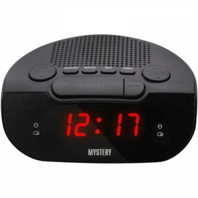 Радиобудильник Mystery MCR-21 черный с красной подсветкой (MCR-21 BLACK&RED)