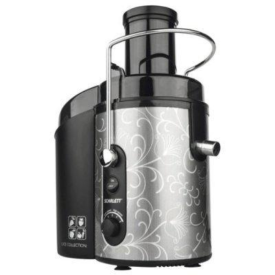 Соковыжималка Scarlett SC-JE50S12 (SC-JE50S12)Соковыжималки Scarlett<br>центробежная соковыжималка<br>мощность 1500 Вт<br>стакан для сока в комплекте<br>подача сока сразу в стакан<br>противокапельная система<br>автоматический выброс мякоти<br>отсекатель пены сока<br>корпус из пластика<br>возможность загрузки целых плодов<br>