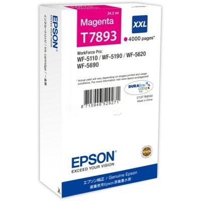 Картридж для струйных аппаратов Epson T7893 пурпурный экстраповышенной емкости для WF-5110DW/5620DWF (C13T789340)