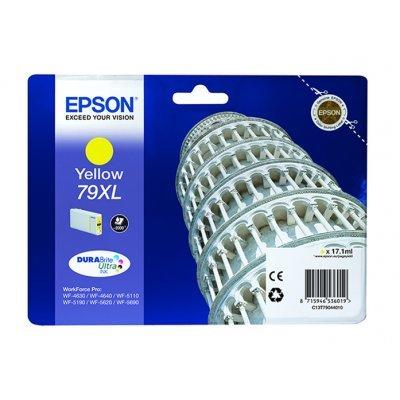 Картридж для струйных аппаратов Epson T7904 желтый повышенной емкости для WF-5110DW/WF-5620DWF (C13T79044010)Картриджи для струйных аппаратов Epson<br>Картридж для струйных аппаратов Epson T7904 желтый повышенной емкости для WF-5110DW/WF-5620DWF<br>