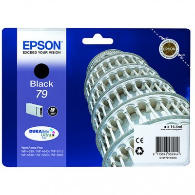 Картридж для струйных аппаратов Epson T7911 черный для WF-5110DW/WF-5620DWF (C13T79114010) 1 piece t6710 maintenance waste ink tank box for epson workforce pro wp 4530 4540 4020 wf 4630 4640 5690 wf 5190 5620 5110