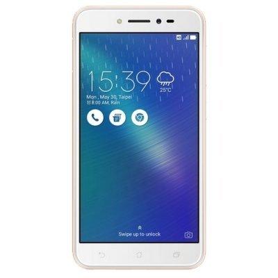 Смартфон ASUS ZenFone Live ZB501KL 32Gb золотистый (90AK0072-M00140) аксессуар защитная пленка asus zenfone live zb553kl luxcase суперпрозрачная 55823