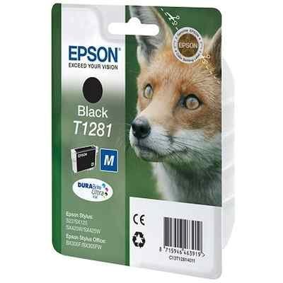 Картридж для струйных аппаратов Epson C13T12814012 черный для Epson S22/SX125 (C13T12814012) картридж colouring cg 1282 cyan для epson s22 sx125 sx130 sx420w sx425w office bx305f bx305fw