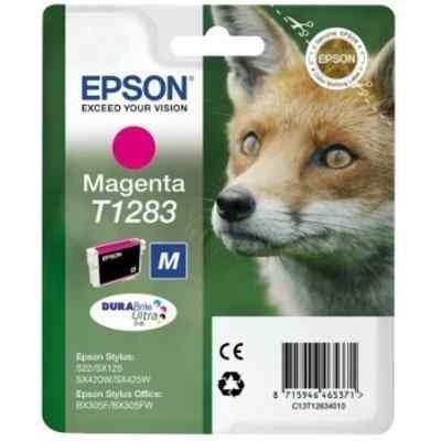 Картридж для струйных аппаратов Epson C13T12834012 пурпурный для Epson S22/SX125 (C13T12834012) картридж colouring cg 1282 cyan для epson s22 sx125 sx130 sx420w sx425w office bx305f bx305fw