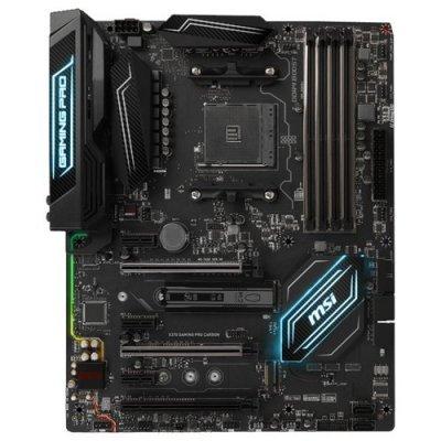 Материнская плата ПК MSI X370 GAMING PRO CARBON (X370 GAMING PRO CARBON)Материнские платы ПК MSI<br>материнская плата форм-фактора ATX<br>сокет AM4<br>чипсет AMD X370<br>4 слота DDR4 DIMM, 1866-3200 МГц<br>поддержка SLI/CrossFireX<br>разъемы SATA: 6 Гбит/с - 6<br>