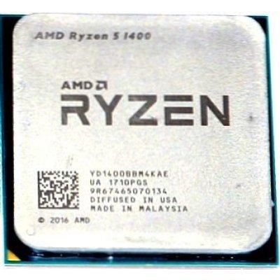 Процессор AMD Ryzen 5 1400 AM4 OEM (YD1400BBM4KAE) процессор amd ryzen 5 1600 am4 oem yd1600bbm6iae