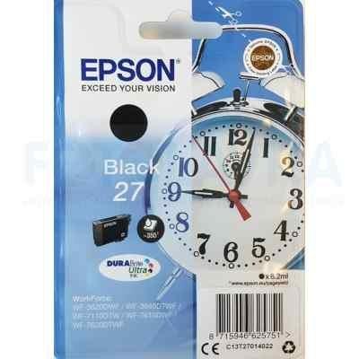 Картридж для струйных аппаратов Epson C13T27014022 черный для Epson WF7110/7610/7620 (350стр.) (6.2мл) (C13T27014022) procolor continuous ink supply system ciss europe area 27 t2701 for epson wf 7110 wf7110 wf 7110 7110dtw wf 7110dtw wf7110dtw