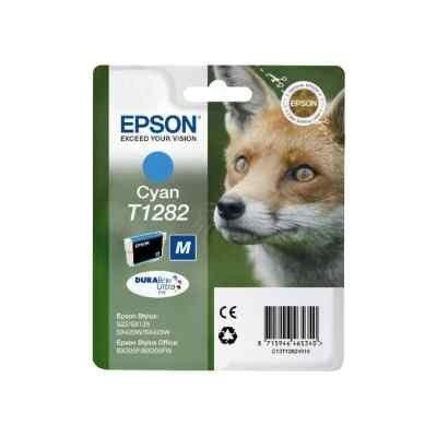 Картридж для струйных аппаратов Epson C13T12824012 голубой для Epson S22/SX125 (C13T12824012)Картриджи для струйных аппаратов Epson<br>Картридж струйный Epson C13T12824012 голубой для Epson S22/SX125<br>