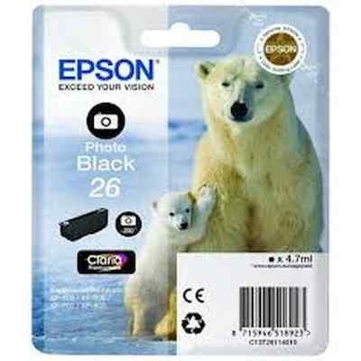 Картридж для струйных аппаратов Epson C13T26114012 фото черный для Epson XP-600/605/700/710/800 (200стр.) (C13T26114012) принтер струйный epson l312